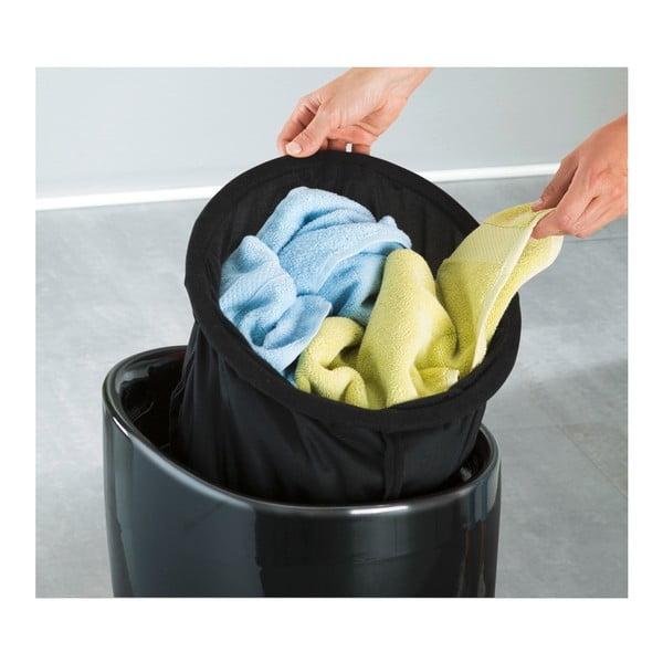 Czarny kosz na pranie i taboret w jednym Wenko Candy, 20 l