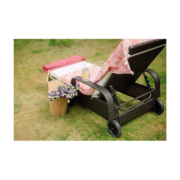 Leżak ogrodowy ze sztucznego rattanu Timpana Sun