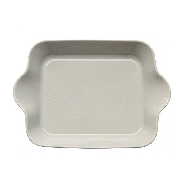 Beżowa porcelanowa miska do zapiekania Sagaform Piccadilly Billy, 38,5x27 cm