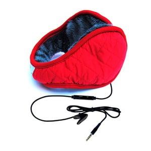 Nauszniki ze słuchawkami Hi-Ear Trapuntato Rosso