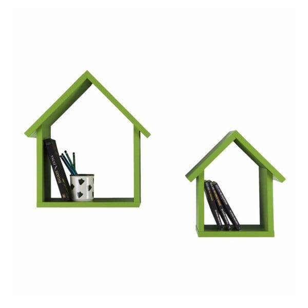 Zestaw 2 półek Maison, zielony