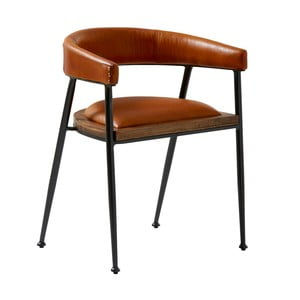 Karmelowe krzesło skórzane Fuhrhome London