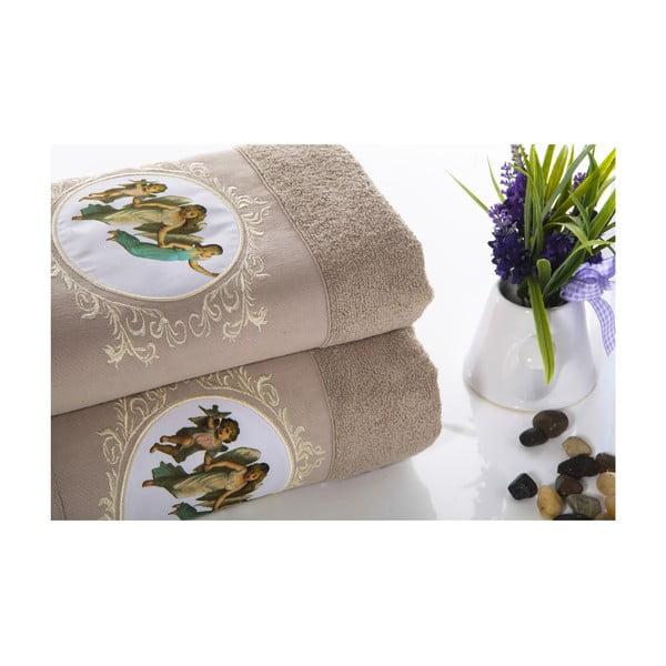 Zestaw 2 ręczników Angel V3, 50x90 cm + 70x140 cm