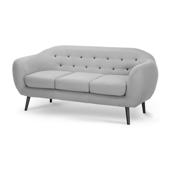 Szara sofa 3-osobowa Scandi by Stella Cadente Maison Constellation