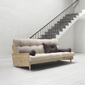 Sofa rozkładana Karup Indie Clear Lacquered/Vision/Gris