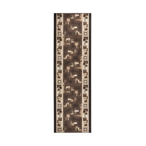 Dywan Basic Retro, 80x200 cm, brązowy