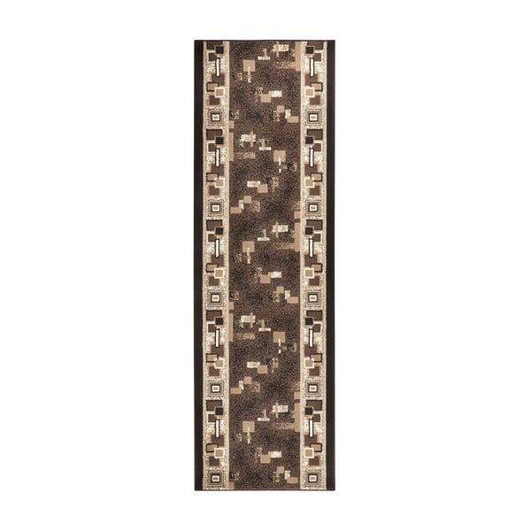 Dywan Basic Retro, 80x450 cm, brązowy