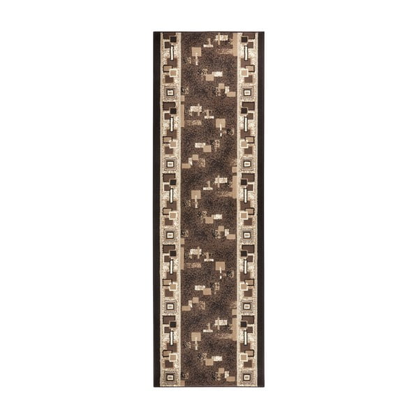 Brązowy chodnik Hanse Home Retro, 80x450 cm