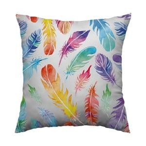 Poduszka Rainbow Feathers, 40x40 cm