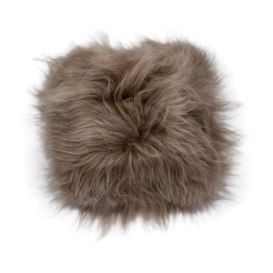 Ciemnoszara dwustronna poduszka futrzana z długim włosiem, 45x45 cm