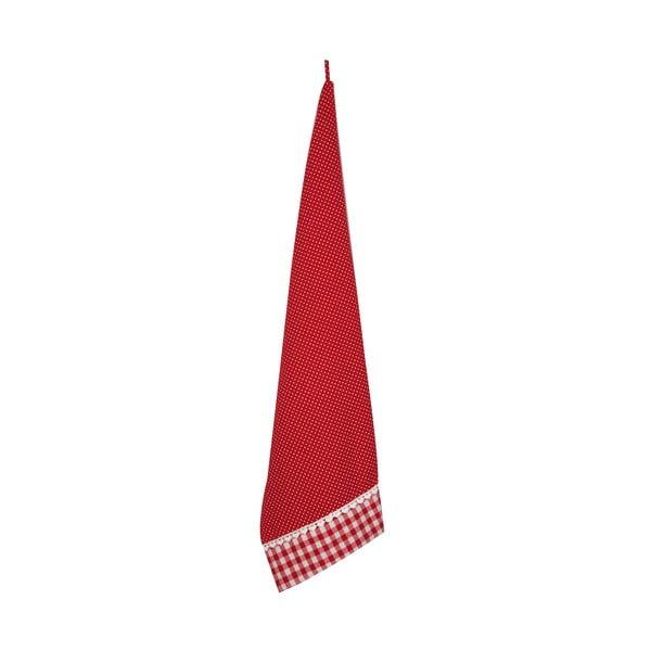 Ścierka Basic Hearts 50x85 cm, czerwona