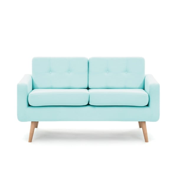 Pastelowo niebieska sofa dwuosobowa VIVONITA Ina