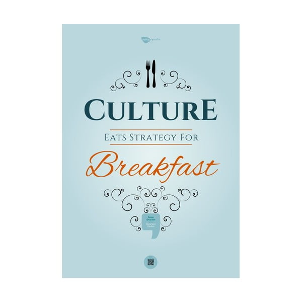 Plakat Culture eats strategy for breakfast, 100x70 cm