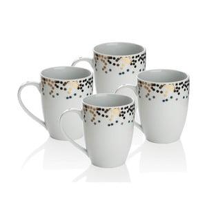 Zestaw 4 kubków porcelanowych Sabichi Gatsby, 300 ml