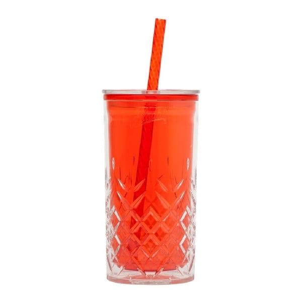Kubek ze słomką Cup 470 ml, czerwony