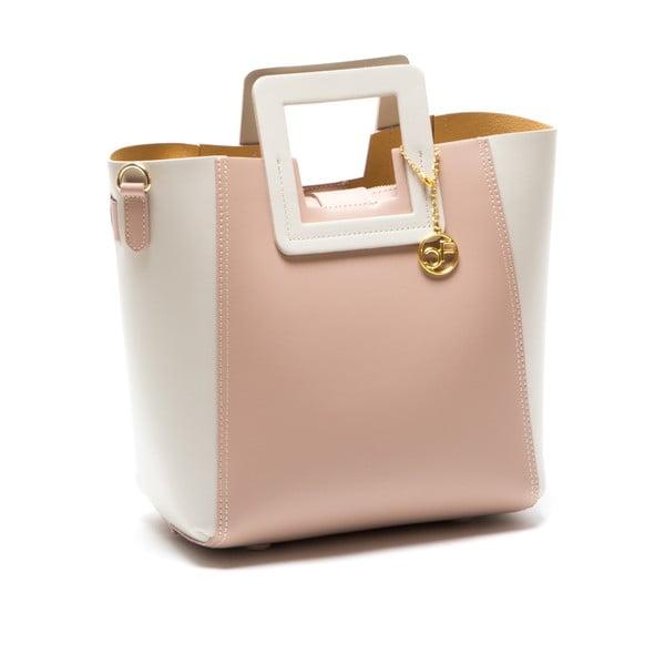 Skórzana torebka Camoa, różowa
