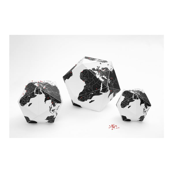 Czarny globus składany Palomar Here, 23cm