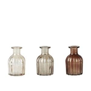 Zestaw 3 kremowych wazonów KJ Collection, 9,5x5,5cm