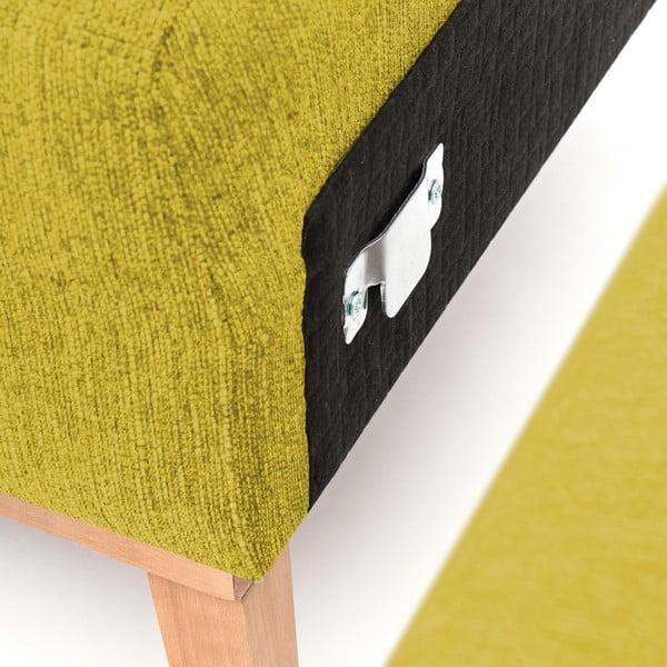 Zielona prawostronna sofa narożna Vivonita Milton