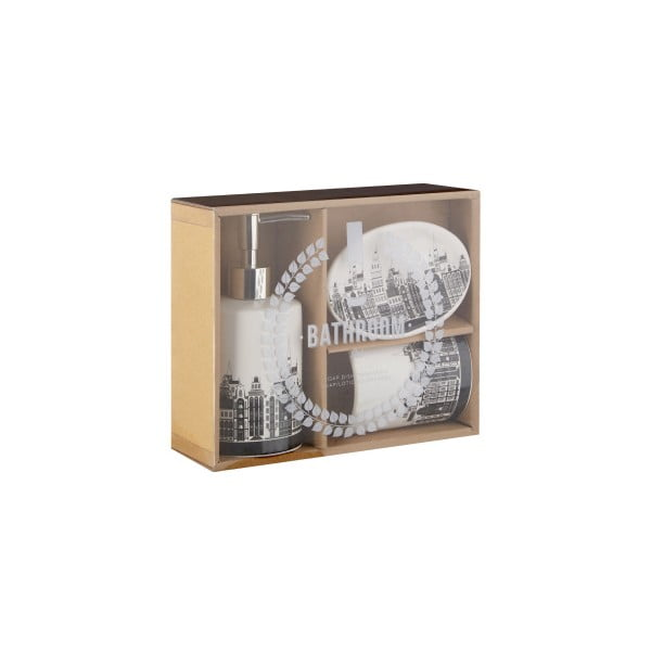 Komplet 3 akcesoriów łazienkowych Premier Housewares Skyline