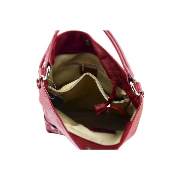 Skórzana torebka Audrey, czerwona