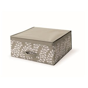 Brązowe pudełko z pokrywką Cosatto Floral, 45x45 cm
