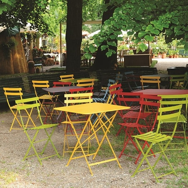 Zestaw 2 antracytowych krzeseł składanych Fermob Bistro