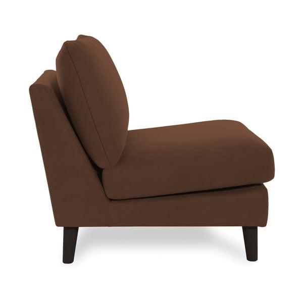 Jasnobrązowy fotel z czarnymi nogami VIVONITA Bill