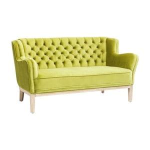 Limonkowa sofa dwuosobowa Kare Design Coffee