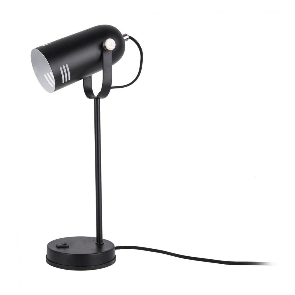 Czarna lampa stołowa Leitmotiv Husk