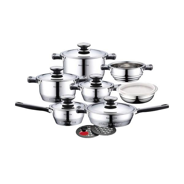 16-częściowy zestaw garnków i patelni ze stali nierdzewnej Cookware