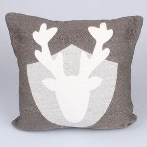 Poszewka na poduszkę Dakls, szary renifer