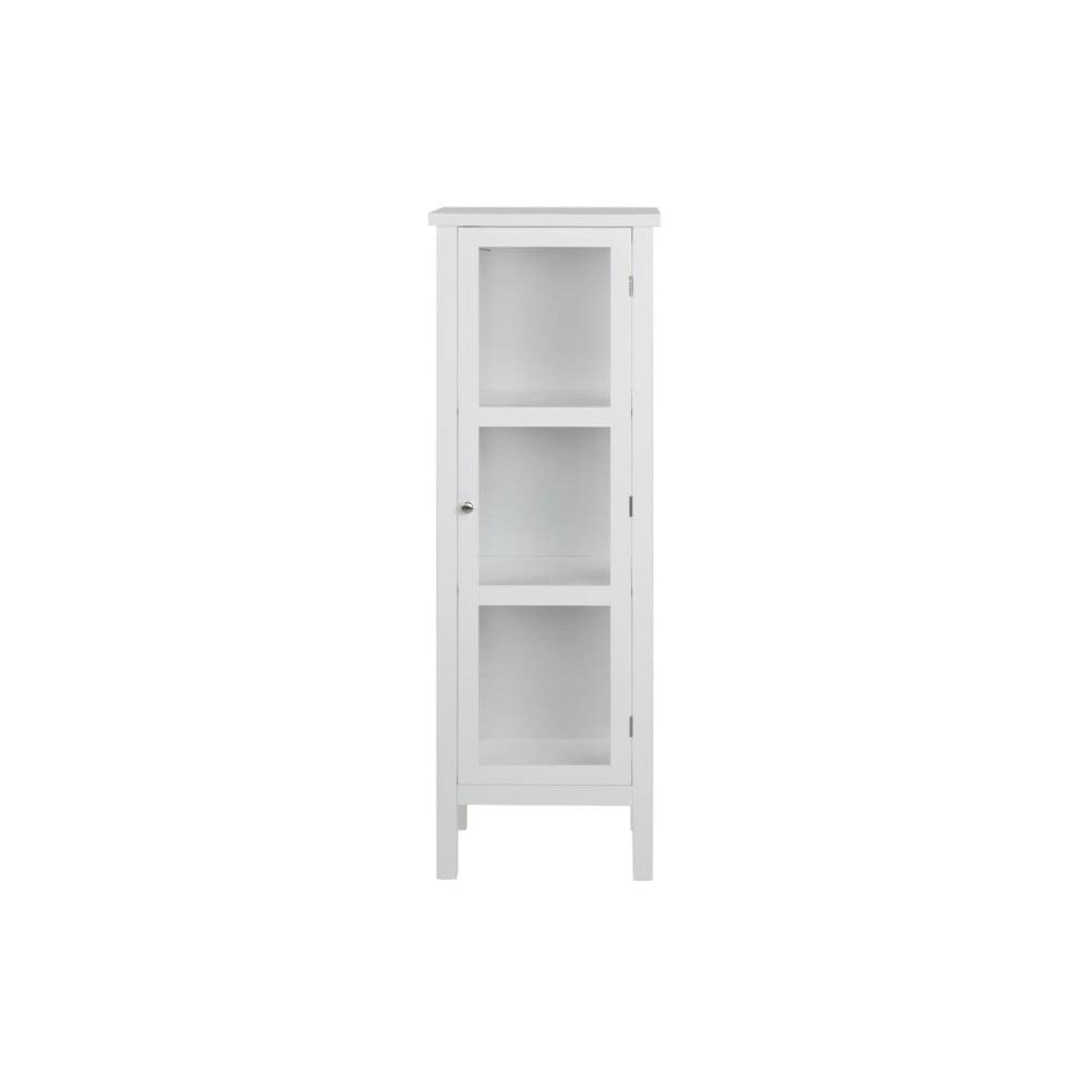Biała witryna Actona Eton, wys. 136 cm