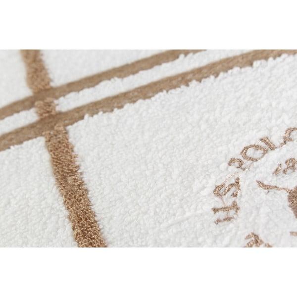 Ręcznik US Polo Bath White and Beige, 90x150 cm