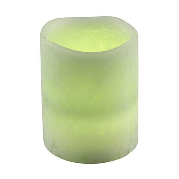Dekoracja świetlna LED Vorsteen Taper Lime, 7,5cm