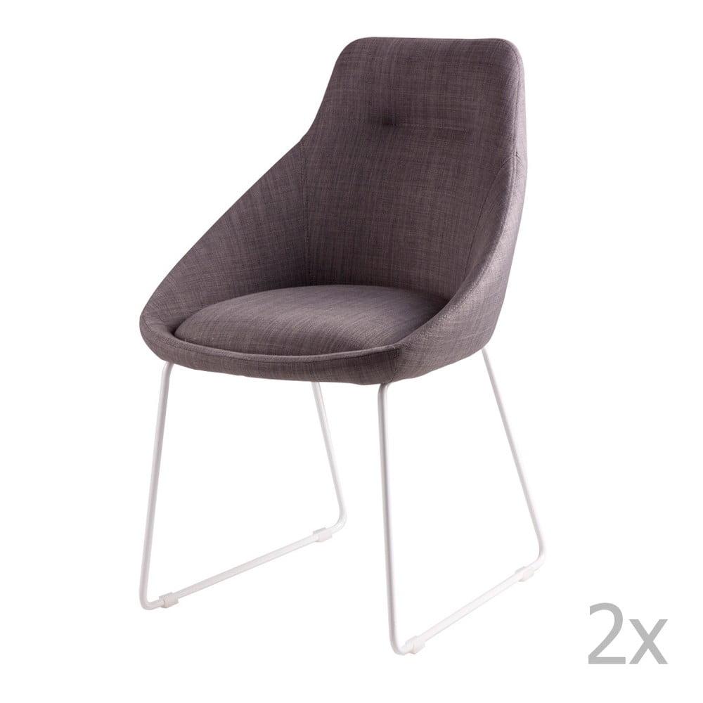 Zestaw 2 jasnoszarych krzeseł sømcasa Alba