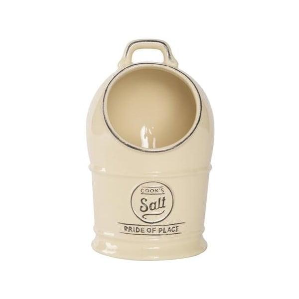Kremowy pojemnik ceramiczny na sól T&G Woodware Pride Of Place