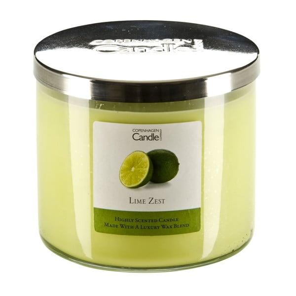 Świeczka o zapachu limonek Copenhagen Candles Lime Zest, czas palenia 50 godz.