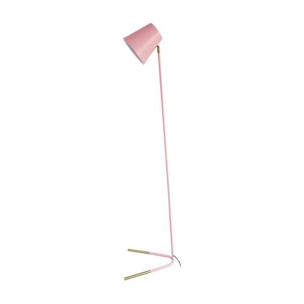 Różowa lampa stojąca z detalami w złotym kolorze Leitmotiv Noble