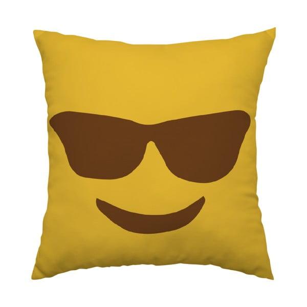 Poduszka Emoji Glasses, 40x40 cm