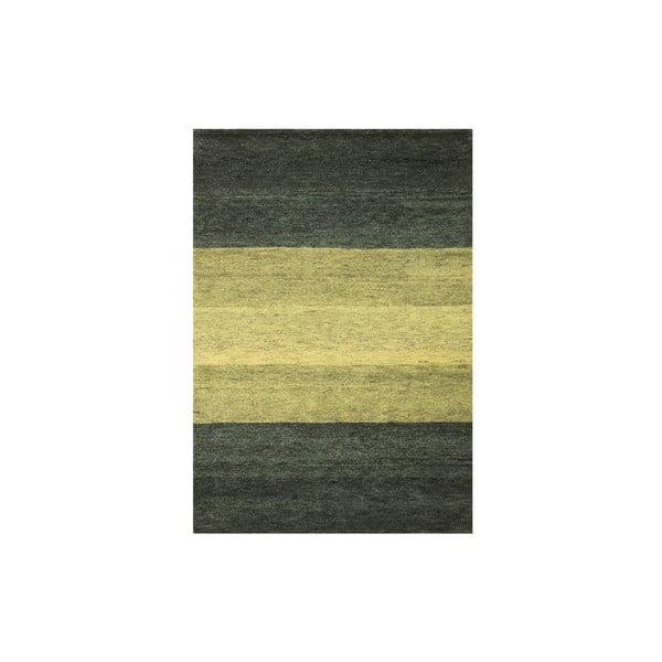 Dywan wełniany Baku Stripe Green, 70x140 cm