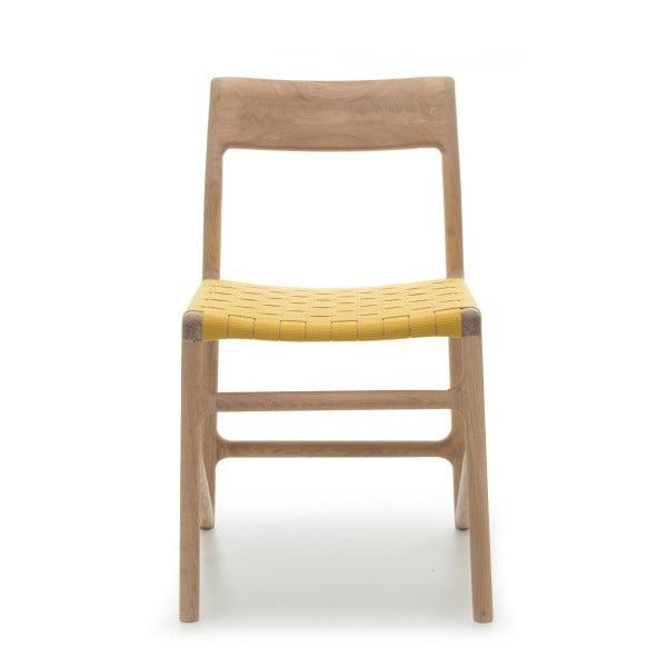 Krzesło Fawn Natural Gazzda, żółte