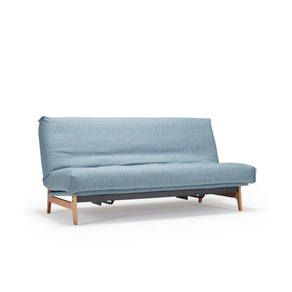 Jasnoniebieska sofa rozkładana Innovation Aslak