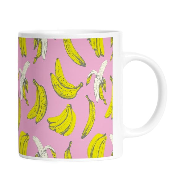 Kubek ceramiczny Banana in Pink, 330 ml
