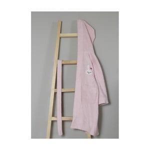 3503d618cb962a Jasnoróżowy bawełniany szlafrok dziecięcy z kapturem My Home Plus Sleepy,  4–6 lat