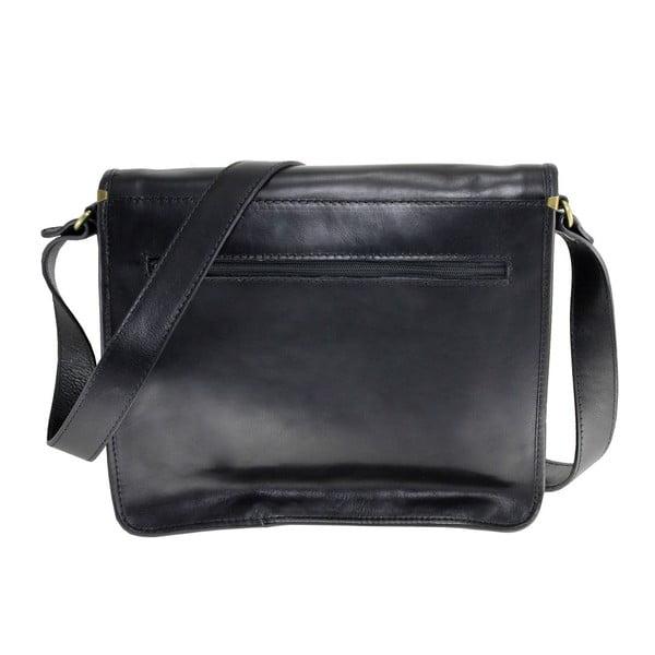 Czarna skórzana torba Nora