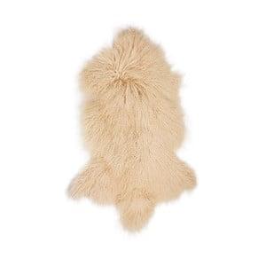 Bezowa skóra owcza z długim włosiem Hyggur, 85x50cm