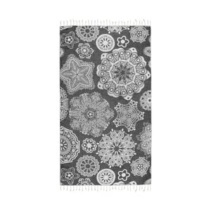 Czarny ręcznik hammam Kate Louise Isabella, 165x100 cm