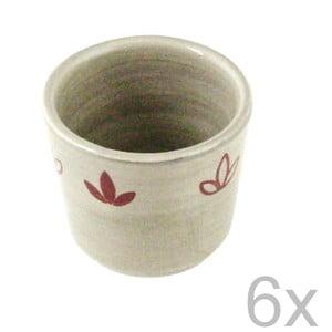 Zestaw 6 kubków ceramicznych Heart