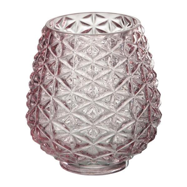 Szklany   świecznik Tria, wysokość 15 cm